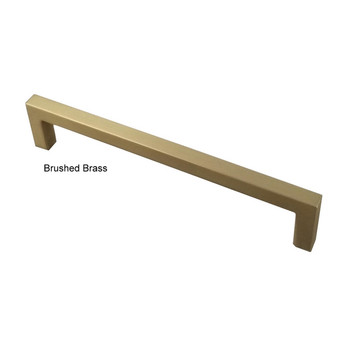 "Century, Kai, 6 5/16"" (160mm) Square End Straight Pull, Brushed Brass"