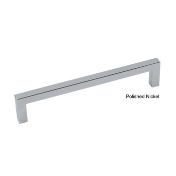 "Century, Kai, 6 5/16"" (160mm) Square End Straight Pull, Polished Nickel"