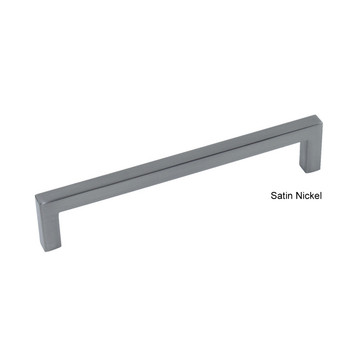 "Century, Kai, 6 5/16"" (160mm) Square End Straight Pull, Satin Nickel"