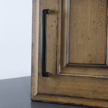 "Century, Matte Black, 6 5/16"" (160mm) Straight Pull, Matte Black - installed"