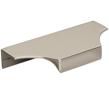 "Amerock, Extent, 4 3/16"" (5 13/16"" Total Length) Tab Pull, Polished Nickel"