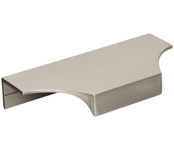 "Amerock, Extent, 4 3/16"" (5 13/16"" Total Length) Tab Pull, Satin Nickel"