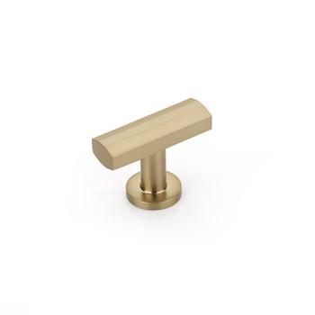 "Schaub and Company, Heathrow, 1 1/4"" Pull Knob, Signature Satin Brass"