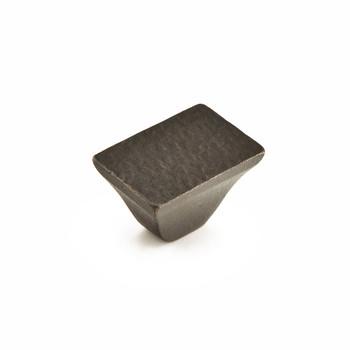 "Schaub and Company, Vinci, 1 1/4"" Square Knob, Black Bronze"