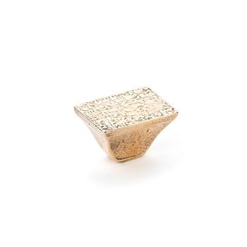 "Schaub and Company, Vinci, 1 1/4"" Square Knob, Natural Bronze"