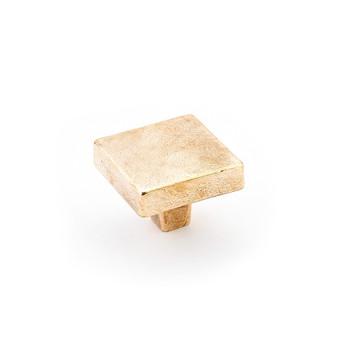 "Schaub and Company, Vinci, 1 3/4"" Square Knob, Natural Bronze"