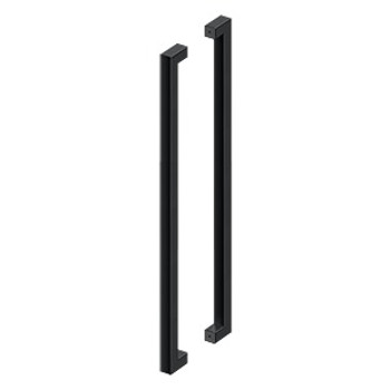 """Deltana, 42"""" Extra Large Contemporary Back-to-Back Pull, Paint Black"""