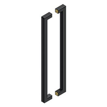 """Deltana, 24"""" Contemporary Back-to-Back Pull, Paint Black"""