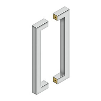 """Deltana, 12"""" (305mm) Contemporary Back-to-Back Pull, Polished Stainless"""