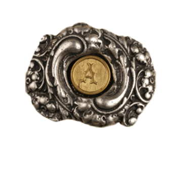 Anne at Home, Fancy Initial Knob, Oval