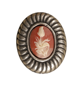 Anne at Home, Charlotte Insert Knob, Medium - Shown with Carnelian Cameo