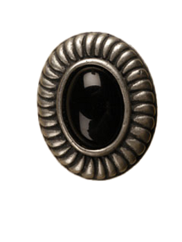Anne at Home, Charlotte Insert Knob, Large - shown with Black insert