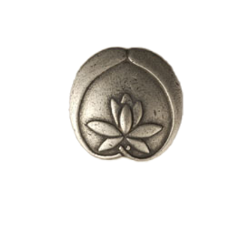 """Anne at Home, Asian Lotus Flower Knob 1 3/4"""""""