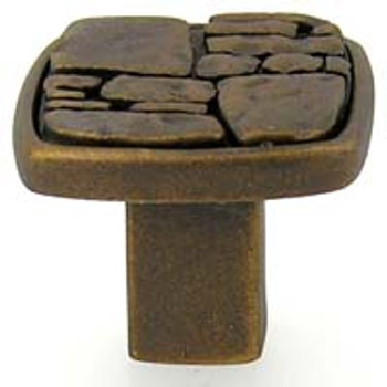 Anne at Home, Fieldstone Knob - Shown in finish #3- Bronze Rubbed base and insert