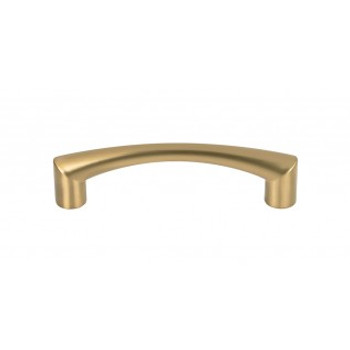 """Top Knobs, Nouveau, Hidra 3 3/4"""" (96mm) Curved Pull, Honey Bronze"""