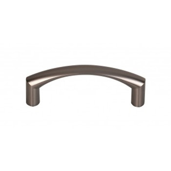 """Top Knobs, Nouveau, Griggs, 3"""" Curved Pull, Ash Gray"""