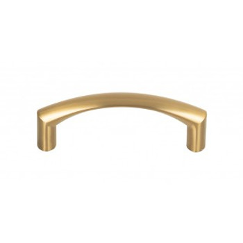 """Top Knobs, Nouveau, Griggs, 3"""" Curved Pull, Honey Bronze"""