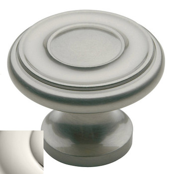 "Baldwin, Dominion, 1 1/4"" Round Knob, Polished Nickel"