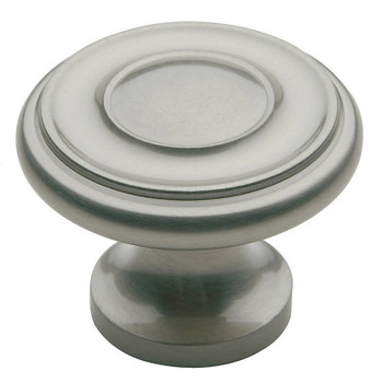 "Baldwin, Dominion, 1 1/4"" Round Knob, Satin Nickel"