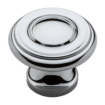 "Baldwin, Dominion, 1 1/4"" Round Knob, Polished Chrome"