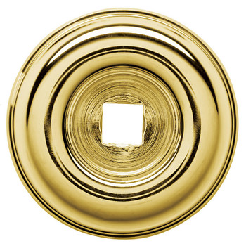 "Baldwin, 1 1/2"" Knob Backplate, Polished Brass"