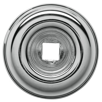"Baldwin, 1 1/2"" Knob Backplate, Polished Chrome"