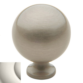 "Baldwin, Spherical, 1 1/4"" Round Knob, Polished Nickel"