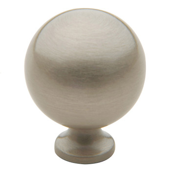 "Baldwin, Spherical, 1 1/4"" Round Knob, Satin Nickel"