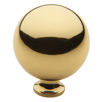 "Baldwin, Spherical, 1 1/2"" Round Knob, Polished Brass"