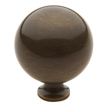 "Baldwin, Spherical, 1 1/2"" Round Knob, Satin Brass with Black"
