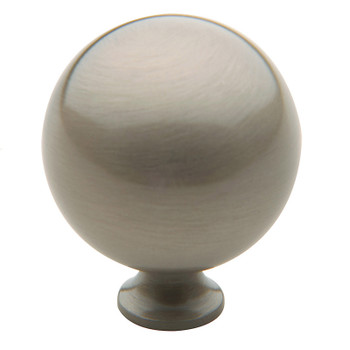 "Baldwin, Spherical, 1 1/2"" Round Knob, Satin Nickel"