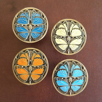 Monarch Butterflies collection shown with 4 knobs