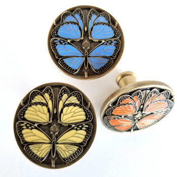 Monarch Butterflies collection of 3 knobs