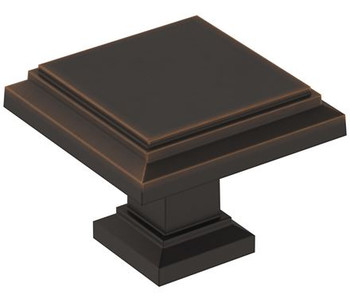 "Amerock, Appoint, 1 1/4"" Square Knob, Oil Rubbed Bronze"