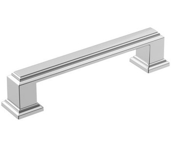 "Amerock, Appoint, 3 3/4"" (96mm) Straight Pull, Polished Chrome"