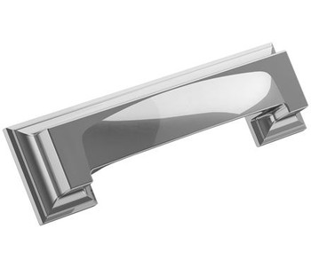 """Amerock, Appoint, 3"""" and 3 3/4"""" (96mm) Cup Pull, Polished Chrome"""