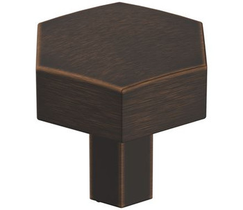 "Amerock, Caliber, 1 1/4"" Octagon Knob, Oil Rubbed Bronze"