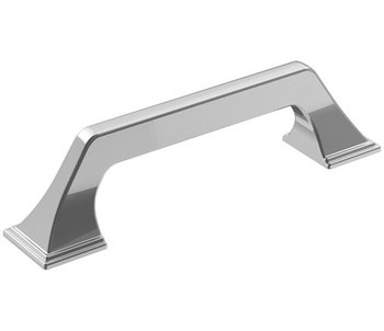 """Amerock, Exceed, 3 3/4"""" (96mm) Straight Pull, Polished Chrome"""