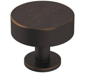 "Amerock, Radius, 1 1/4"" Round Knob, Oil Rubbed Bronze"