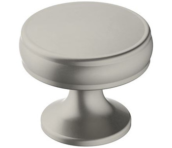 "Amerock, Renown, 1 1/4"" Round Knob, Satin Nickel"