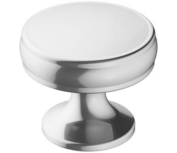 "Amerock, Renown, 1 1/4"" Round Knob, Polished Chrome"