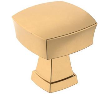 """Amerock, Stature, 1 1/4"""" Square Knob, Champagne Bronze"""