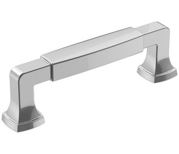 """Amerock, Stature, 3 3/4"""" (96mm) Straight Pull, Polished Chrome"""