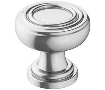 "Amerock, Ville, 1 1/8"" Round Knob, Polished Chrome"