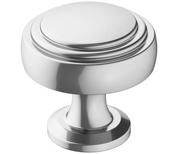 "Amerock, Winsome, 1 1/4"" Round Knob, Polished Chrome"