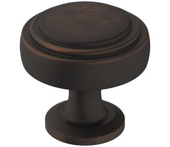 """Amerock, Winsome, 1 1/4"""" Round Knob, Oil Rubbed Bronze"""