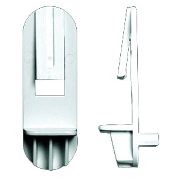 "Rev-a-Shelf, 5mm bore, 1/2"" Shelf Clips, White"