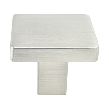 "Berenson, Contemporary Advantage One, 1 1/8"" Square Knob, Brushed Nickel"