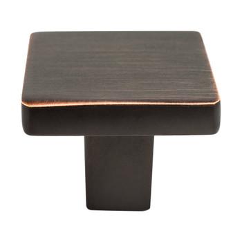"""Berenson, Contemporary Advantage One, 1 1/8"""" Square Knob, Verona Bronze"""