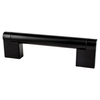 "Berenson, Contemporary Advantage Three, 3 3/4"" (96mm) Straight Pull, Matte Black"